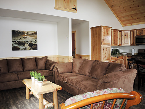 Double Play Cabins living area