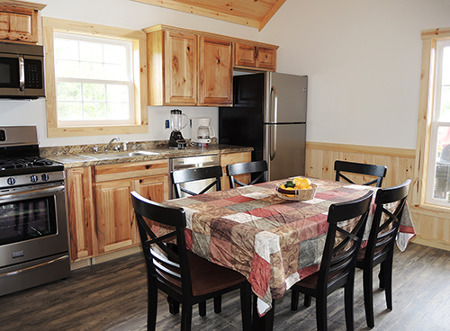 Double Play Cabins kitchen