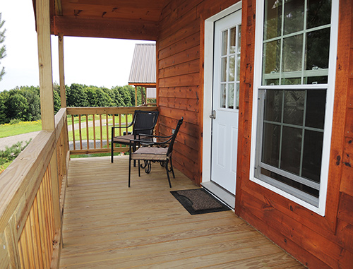 Double Play Cabins porch
