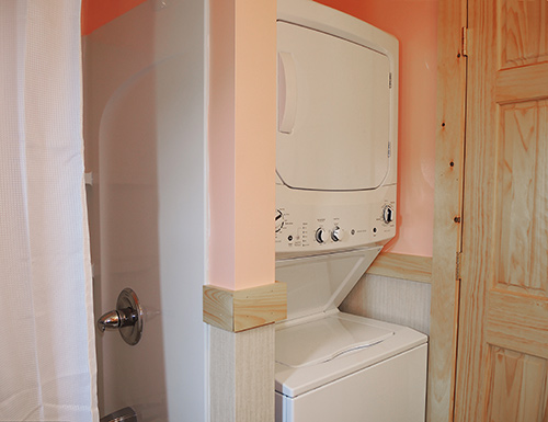 Double Play Cabins laundry