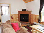 Double Play Cabins fireplace