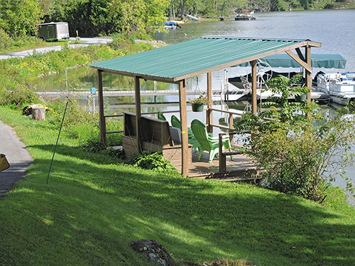 Trout Brook waterfront cabana + dock