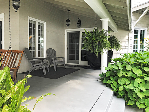 Breezy Point porch by entry door