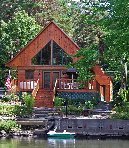 great catch cabin rental on lake near cooperstown ny