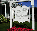 The Weathervane welcome sign