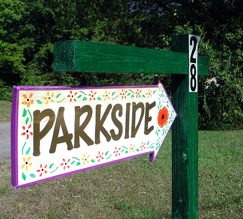 Parkside welcome sign