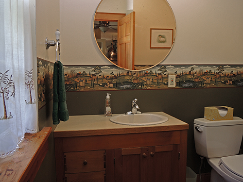 Edgewood half bath on 1st floor