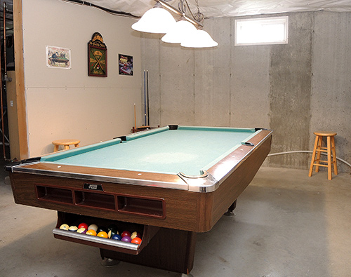 102 Trolley Line game room