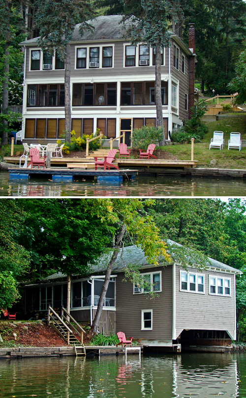 Adirondack Waterfront Compound exterior