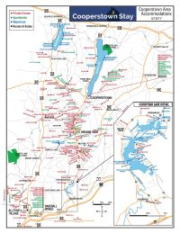 Map Of Cooperstown Ny And Surrounding Cities