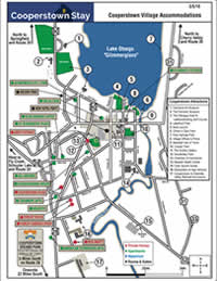 Map of Cooperstown Village